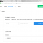 Both main domain and Mailgun subdomain set up SEPARATELY at DigitalOcean
