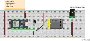 Breadboard Wiring Diagram for Motor Control